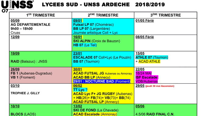 calendrier unss  Lycées Sud 2018 2019-1.jpg